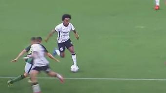 Llegó el momento más esperado: ¡Willian debutó con Corinthians! Captura/Globoesporte