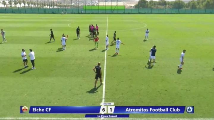 El Elche goleó al Atromitos en su primer test. Captura/ElcheCF