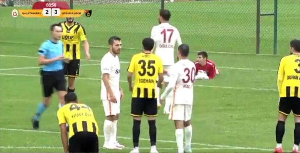 El Galatasaray empató ante el Istanbulspor AS. Captura/GalatasaraySK