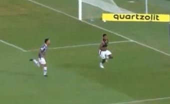 Fluminense venció 3-1 a Flamengo. Captura/Premiere
