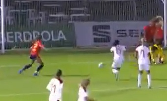 España venció 3-0 a marruecos. Captura/Teledeporte