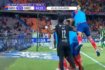 Independiente de Medellín venció 3-1 a Once Caldas. Captura/WinSports
