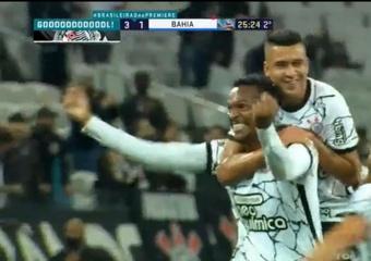 Corinthians venció 3-1 a Bahía. Captura/Premiere