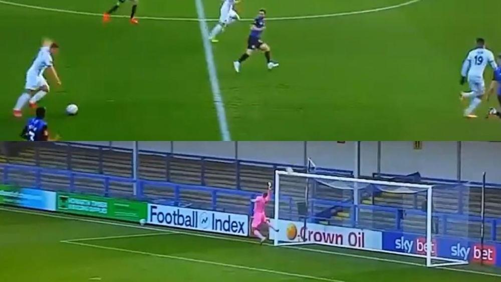 Lo lleva en la sangre: el espectacular gol de mediocampo de otro Rooney. Captura