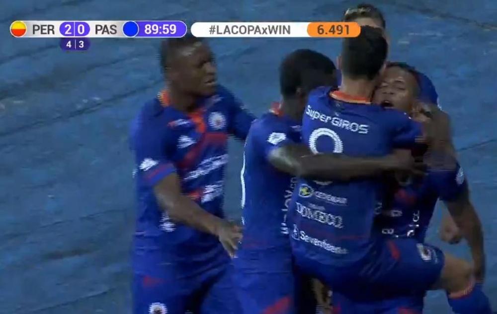 Tolima y Deportivo Pereira se citan en 'semis'. Captura/WinSports
