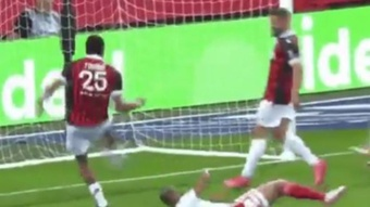 El Niza venció 2-1 al Brest. Captura/BeINSports