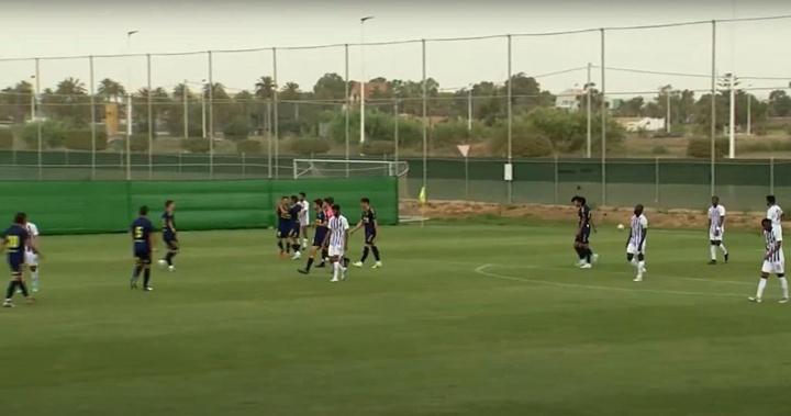 Sergio Moyita anotó el único tanto del partido. Captura/YouTube/UCAMCF