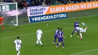 ¿Directo al Puskas? El golazo de espuela 'a lo Ibra' que enmudeció al AZ Alkmaar. Twitter/ESPNnl