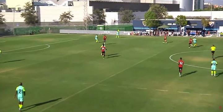 El Granada ganó en su primer amistoso de pretemporada. Captura/GranadaCdeF