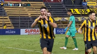 Guaraní doblegó (2-0) a Cerro Porteño. Captura/TigoSports
