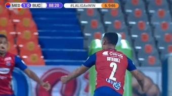 DIM venció por la mínima a Bucaramanga. Captura/WinSports