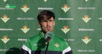 Rodri Sánchez negocia la renovación con el Betis. Twitter/RealBetisCantera