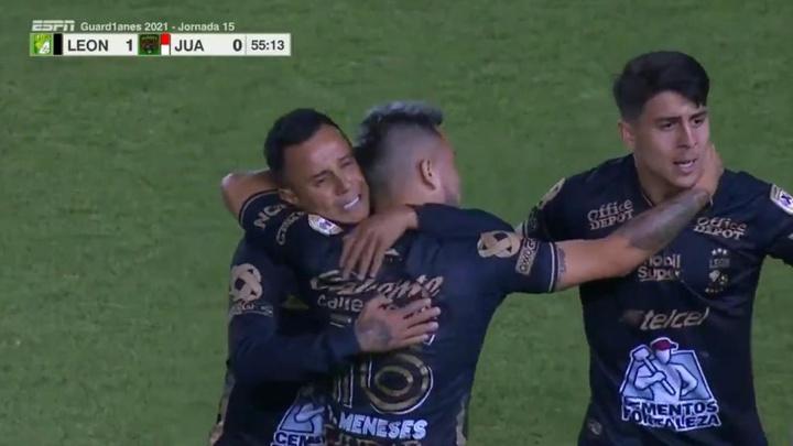 León puede con Juárez y ya acecha la zona alta. Captura/ESPN