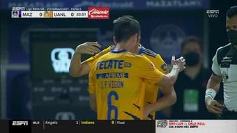 ¡Tigres se quedó sin cambios en 34' por tres lesiones consecutivas! Captura/ESPN