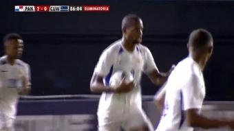 Panamá ganó 2-1 a Curazao. Captura/fuboTV