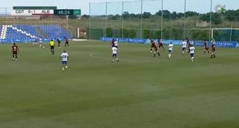 Jordi Sánchez ha conseguidos dos goles en dos partidos. Youtube/Televisión Canaria