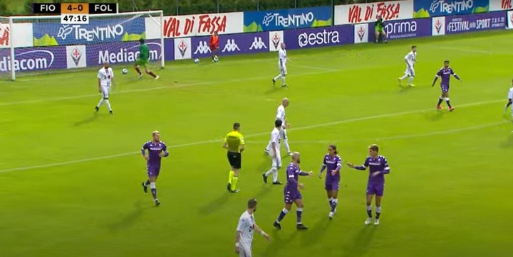 Vlahovic le endosó siete goles a su humilde rival. Captura/YouTube/ACFFiorentina
