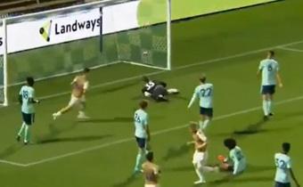 El Leicester cayó derrotado 1-0 ante el Wycombe Wanderes. Captura/LCFCTV