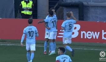 El Celta B venció en Bilbao. Captura/Footters