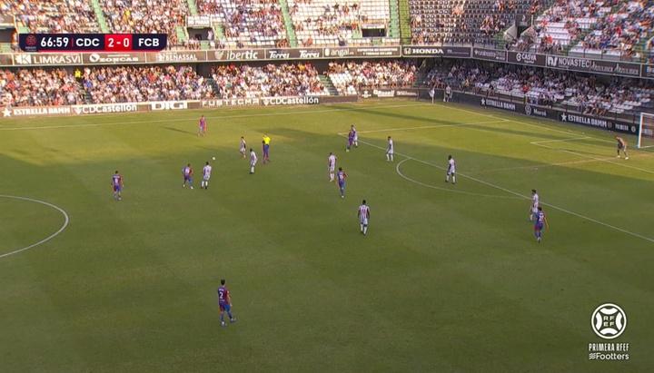 El Castellón acaba con la resurrección del Barça B. Captura/Footters