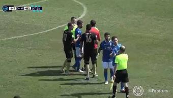 Intercity y Melilla empataron a cero. Captura/Footters