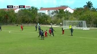 Haití derrotó a Islas Turcas por 0-10. Captura/TiagoSports