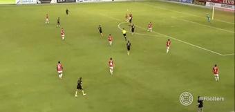 El Murcia venció al CF Intercity. Captura/Footters