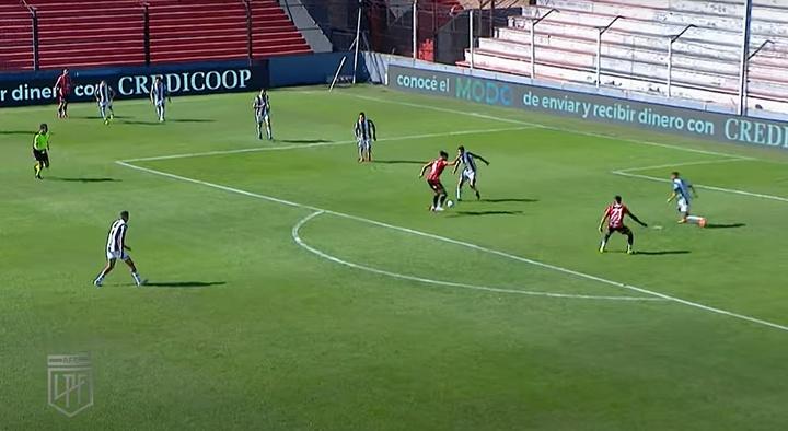 Patronato logró la victoria ante Sarmiento.  Captura/Fanatiz