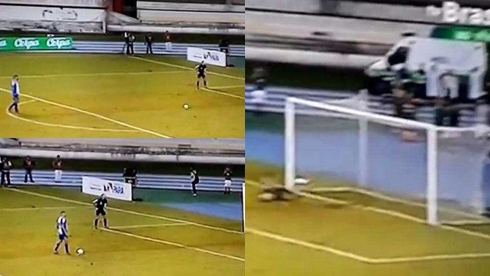 El 'nuevo penalti' en plena final... que no se verá nunca más. Captura/tvBrasil