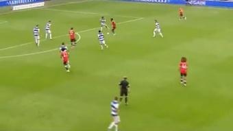 El United perdió contra el Queens Park Rangers. Captura/ManchesterUnited