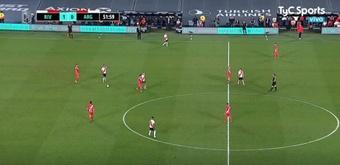 River Plate barrió a Argentinos Juniors y siguió la buena racha. Captura/TyCSports