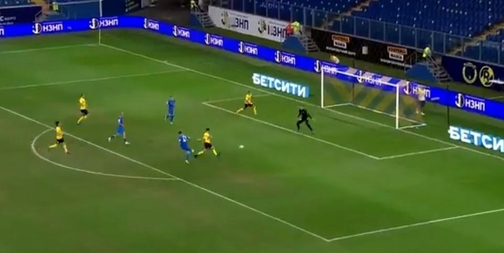 Arrancó la Liga Rusa con lío. Captura/LaLigaSportsTV
