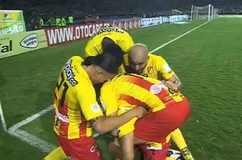 Atlético Nacional perdió 2-3 ante Deportivo Pereira. Captura/WinSports