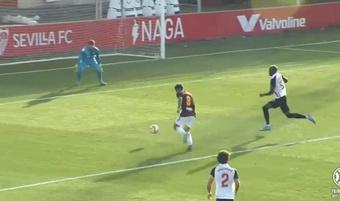 El Albacete derrotó al Sevilla Atlético. Captura/Footters