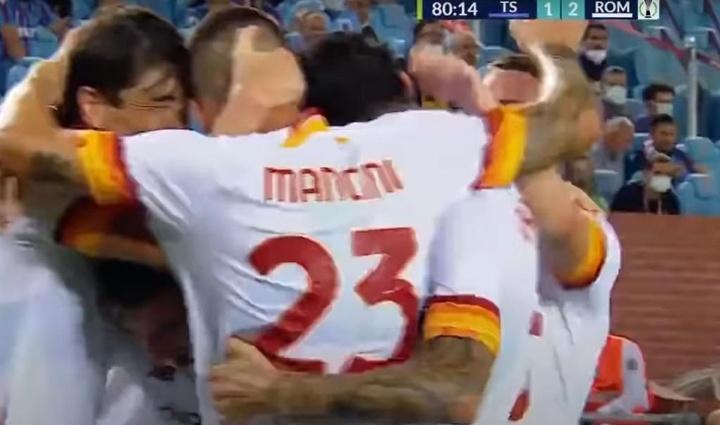 La Roma venció 1-2 al Trabzonspor. Captura/SkySports