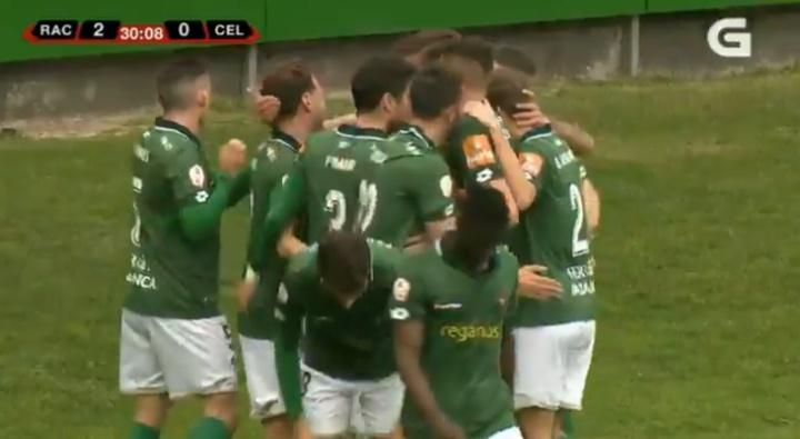 El Racing de Ferrol perdió a Pep Caballé por lesión. Captura/TVG/Archivo