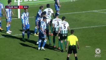 Racing y Dépor empataron sin goles en El Sardinero. Captura/Footters