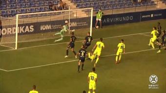 UCAM y Andorra empataron a un gol. Captura/Footters