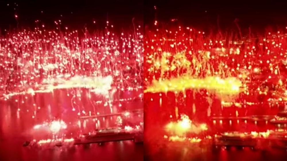 La afición hizo brillar la ciudad entera. Capturas/HajdukSplit