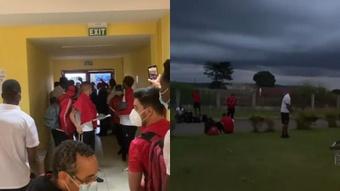 Angola denunció un trato vejatorio en Gabón. Captura/hugomarqueschoco/faf_angola