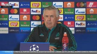 Ancelotti habló en rueda de prensa. Captura/RealMadridTV