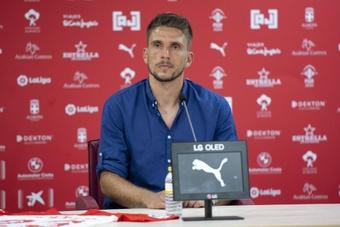 Carriço hizo su debut oficial como jugador de la UD Almería. Captura/U_D_Almeria