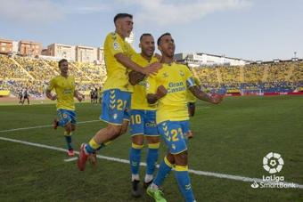 Las Palmas superó con contundencia al Cartagena. LaLiga