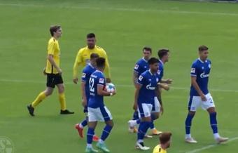 El Schalke venció de forma contundente al Hamborn. Twitter/s04