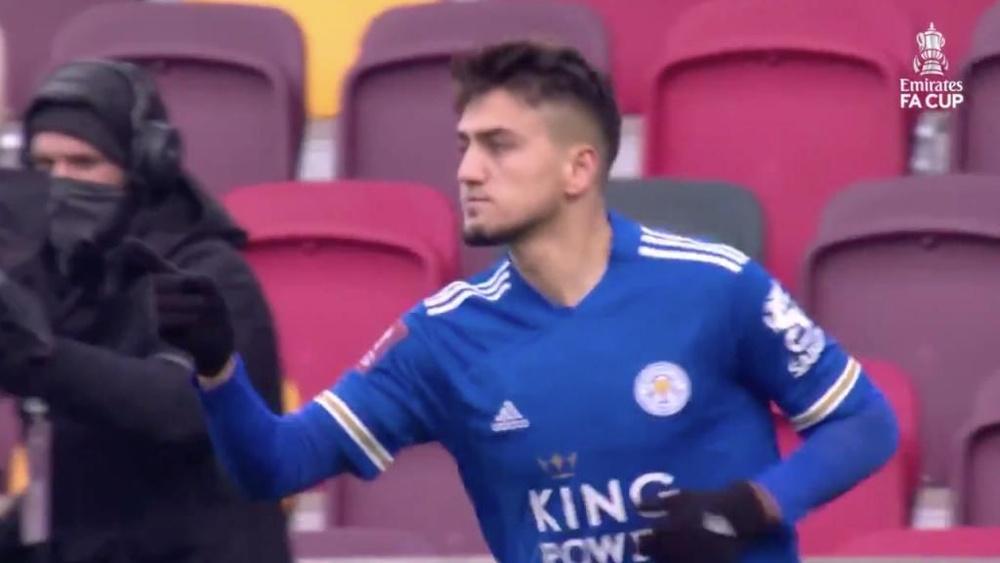 Leicester y Burnley ya están en octavos. Captura/Twitter/EmiratesFACup