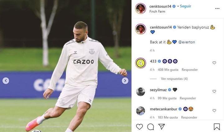 Cenk Tosun sufrió una lesión durante su cesión en el Besiktas. Instagram/cenktosun14