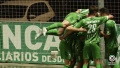 Chiki, jugador del Cornellà, celebra el gol de la victoria ante el Albacete (1-0). Captura/Footters