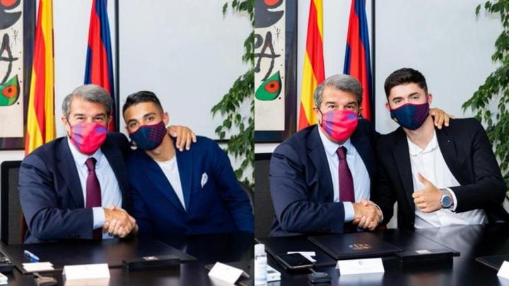 Le Barça incorpore à Kays Ruiz et Jordi Escobar à son équipe réserve. Twitter/FCBarcelonaB