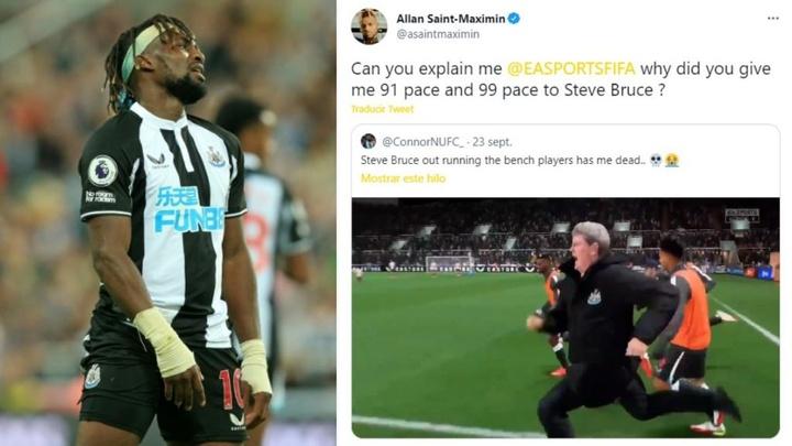 Sain-Maximin exige una explicación por parte de EA Sports. AFP/Twitter/asaintmaximin/ConnorNUFC_