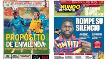 Capas da imprensa desportiva 19 de outubro de 2021.AS/MD